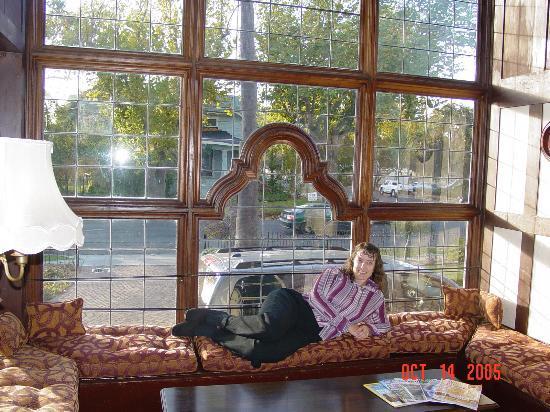 Cedar Gables Inn: My wife, Anne, relaxing