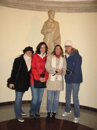 Hotel Albergo Santa Chiara: the lobby - it was 40 degrees out!