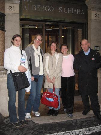 Hotel Albergo Santa Chiara: our last moments - with the airport driver