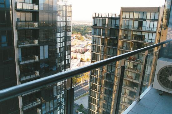 Melbourne Short Stay Apartments Southbank Collection: view from balcony looking other way