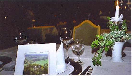 Dornröschenschloss Sababurg: Table Setting at Dinner