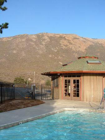 Treebones Resort: view from the pool/spa