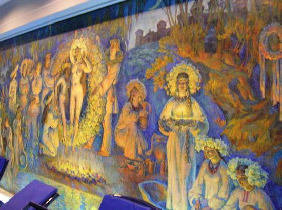 Premier Palace Hotel: Mural in the pool room