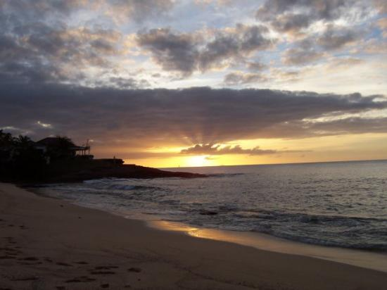 Hawksbill by Rex Resorts: Great House and Sunset from Royal Palm Beach