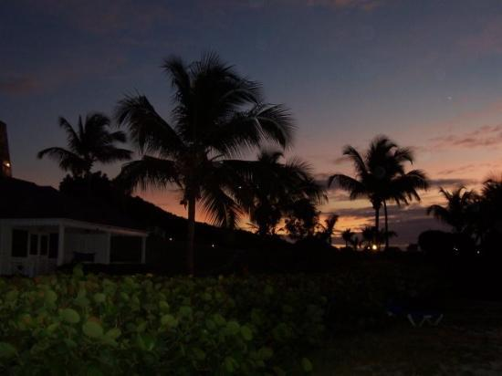 Hawksbill by Rex Resorts: Dusk enveloping the resort (view of Beach Club rooms)