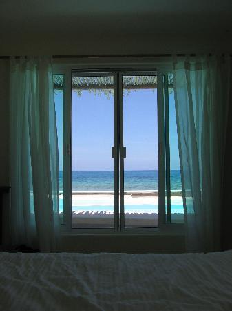 Casa Ixchel: The view from our bed (you can see straight to the Ocean)