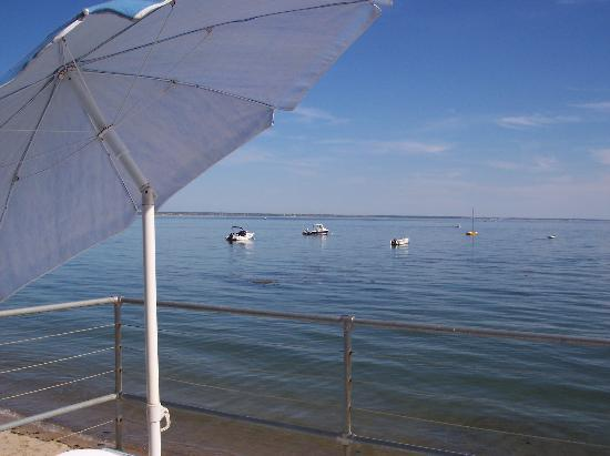 Watermark Inn: View from deck at high tide