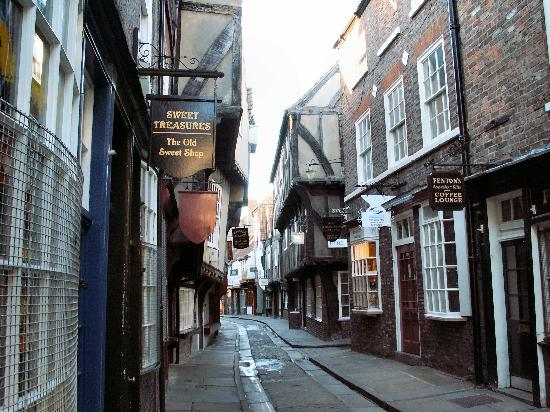 York, UK: The Shambles empty of tourists!