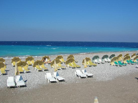 Hotel Rhodos Horizon Resort: day beach view