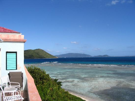 Pusser's Marina Cay Hotel and Restaurant: View from villa towards Virgin Gorda