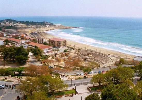 Tarragona, Spanyol: Amphitheater from the Tarraco