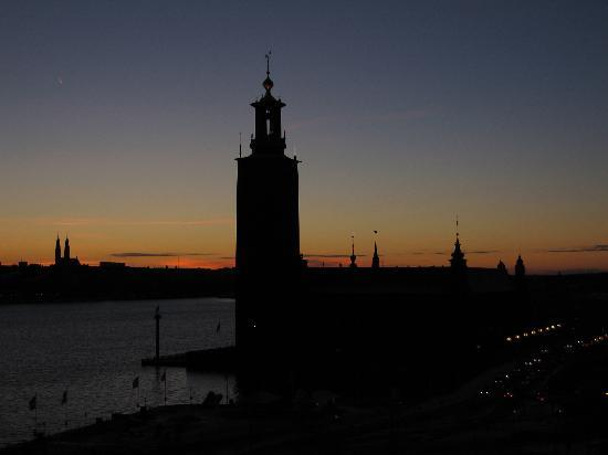 Sheraton Stockholm Hotel: Sunset View from Tower Room