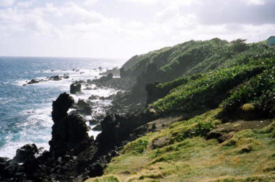 Сент-Китс: black rocks st kitts