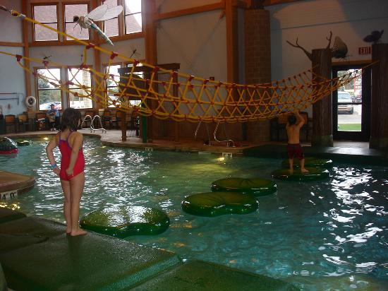 Zehnder's Splash Village Hotel & Waterpark: Lily pad and rope climb