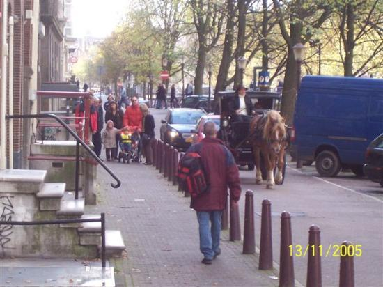 Amsterdam Escape: Kloverniersburgwal (The name of the street the apartment is on).