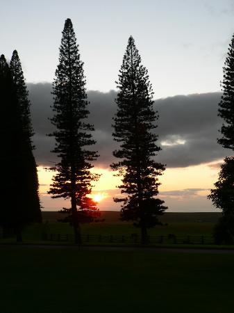Four Seasons Resort Lana'i, The Lodge at Koele: Sunset from front porch