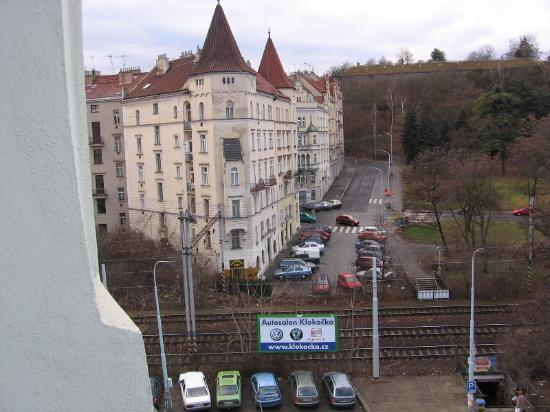 Hotel Union Prague: The view out our window facing Vysehrad
