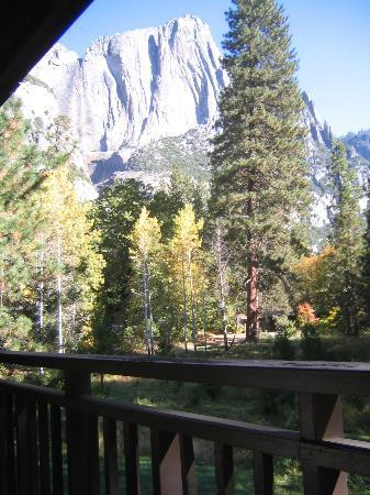 view if the falls dry from our room picture of yosemite valley