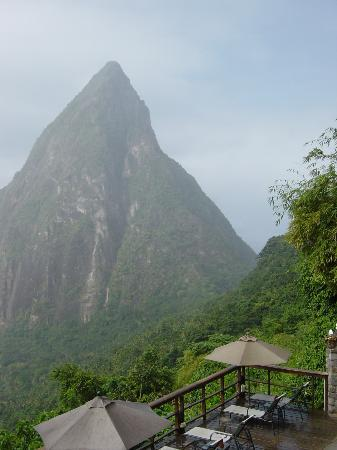 Villa Beach Cottages : View from Ladera - have lunch and drink in the scenery