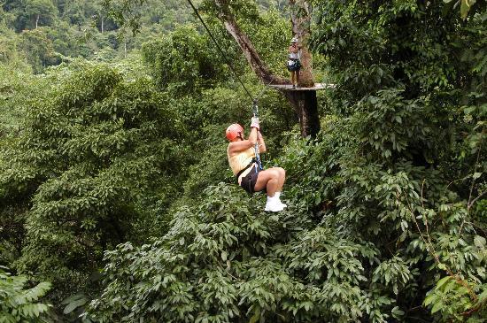 La Fortuna de San Carlos, Costa Rica: Gail in the distance