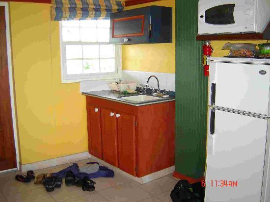 Coconut Court Beach Hotel: Kitchen area of our room