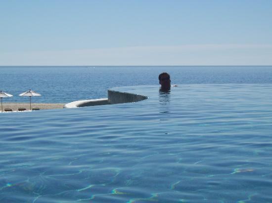 Las Ventanas al Paraiso, A Rosewood Resort: My husband in the main pool