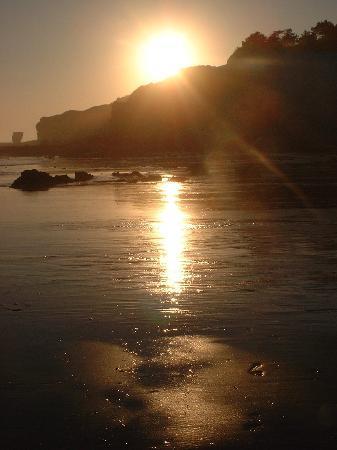 Pine Cliffs Ocean Suites: sunset on beach