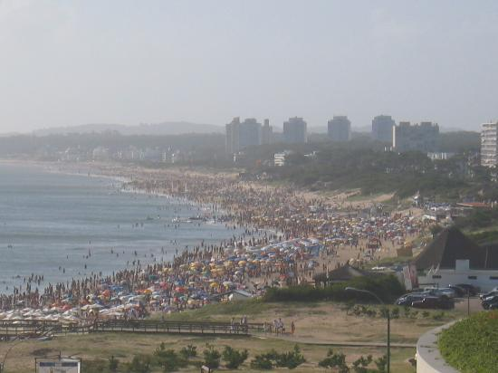 Conrad Punta del Este Resort & Casino: View of the river beach - lots of action