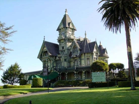 Pacific Coast Highway Carson Mansion In Eureka California