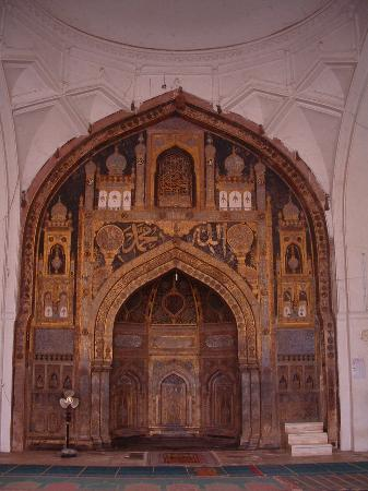 Bijapur, Indien: Jumma Masgid - Carvings painted with gold