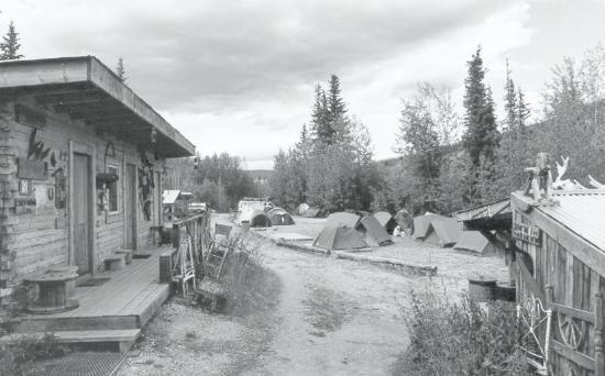 the hostel in Dawson City