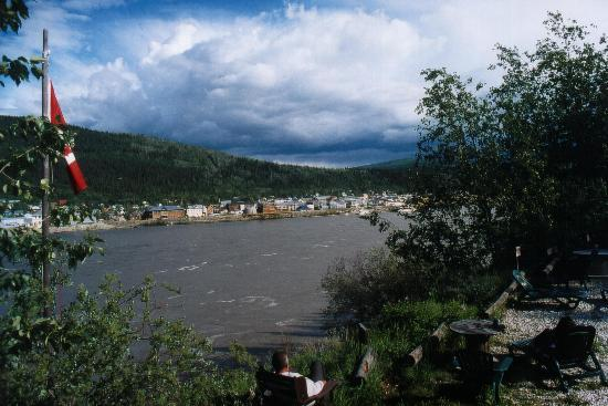 Dawson City, Kanada: view from the hostel