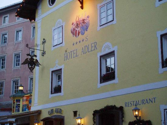 Hotel Adler Dolomiti Spa & Sport Resort: The original, historic frontage of the Adler
