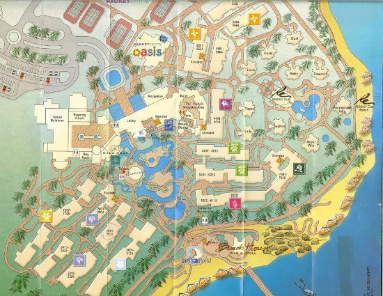 Hyatt Regency Sharm El Sheikh Resort: Hotel map