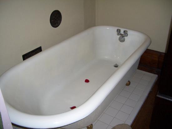 1884 Wildwood Bed and Breakfast Inn: claw foot tub in King David room