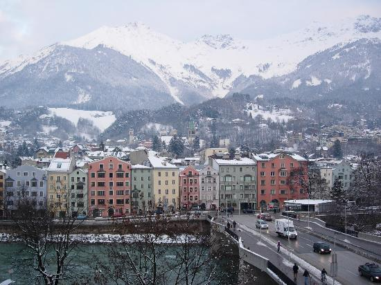Hotel Innsbruck: View from our hotel room