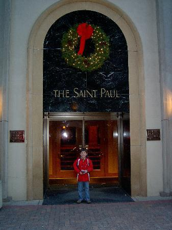 The Saint Paul Hotel: Back door.