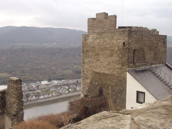castle tower overlooking the Rhine