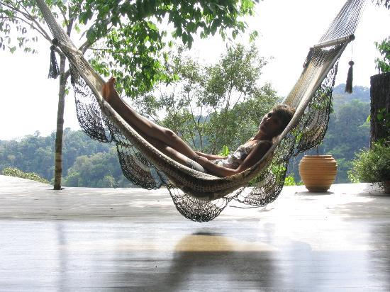 Luna Lodge: Relaxing on the Yoga Platform
