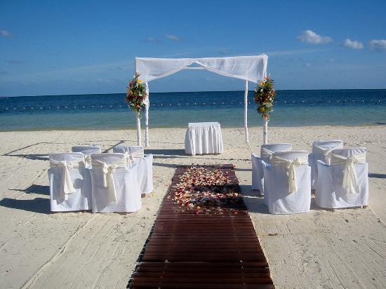 The Wedding Setup Picture Of Azul Beach Resort Riviera