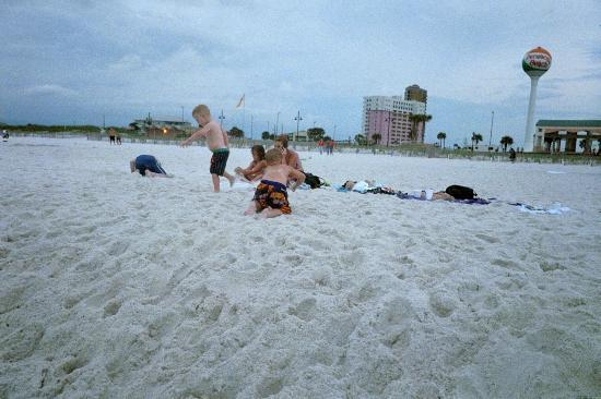 Pensacola Beach, FL: Playing in the soft, white sand