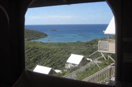 Concordia Eco-Resort: the view of Saltpond Bay through our window