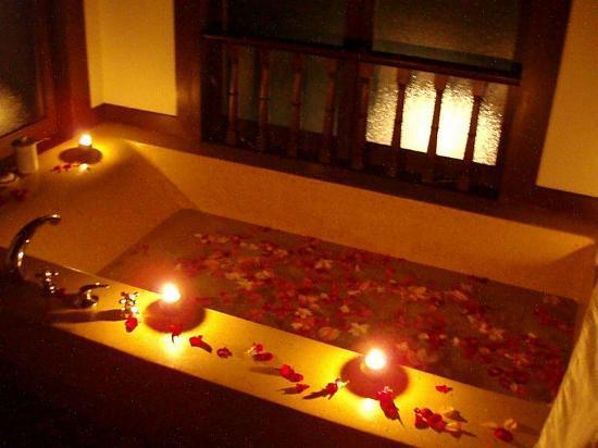 Pangkor Laut Resort: surprise bath decoration