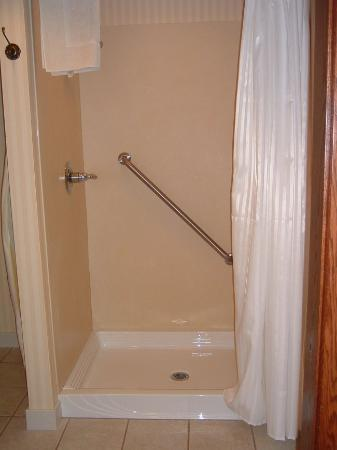 Carlisle Inn Sugarcreek: HUGE, clean shower