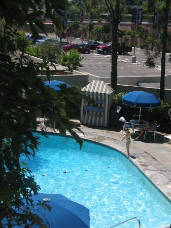 Howard Johnson Anaheim Hotel and Water Playground: View Of Garden Pool From Our Room
