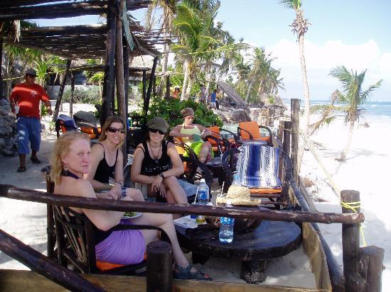 Cabanas Copal: Tun Tun the beach bar