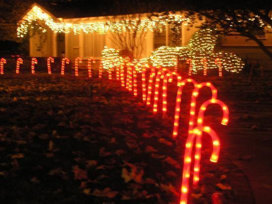 Santa display picture of candy cane lane los angeles tripadvisor