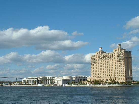 Savannah, GA: The Westin and the convention center from River Street