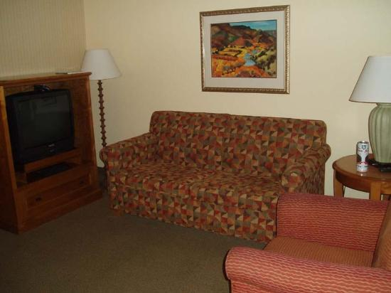 Embassy Suites by Hilton Phoenix Airport: nice sized living room area with fold-out sofa