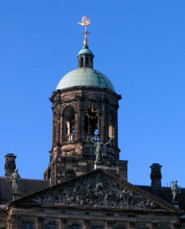 Amsterdam, Nederland: Top of the Royal Palace